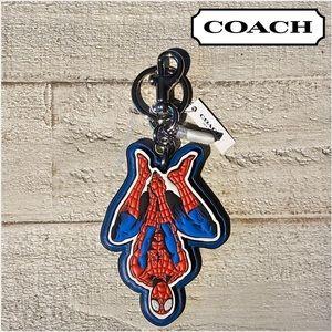 COACH MARVEL Spider-Man Keychain Spidey Spiderman